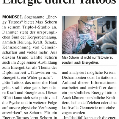 Energie durch Tattoos